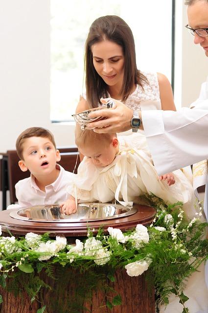 chrzciny chłopca